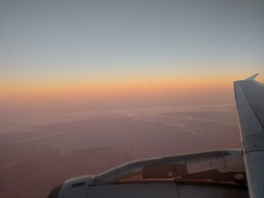 Approaching Hobart International Airport (mattlevine17) Tags: dawn tasmania hobart cambridge airport hobartinternationalairport airbus a320 jet approach sunny