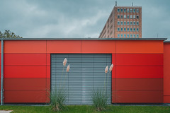 Weyertal Hospital, Cologne (room76com) Tags: red hospital architecture house building color blue green wall autumn fall germany cologne gradient nikon d5300 digita art clouds city orange new