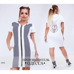 Платье спортивное женское на молнии с капюшоном Морячка + стразы белый (arrkareeta) Tags: