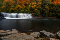 Hooker Falls - DuPont State Forest, NC (Reid Northrup) Tags: rock waterfall tree forest water stream river landscape longexposure rrs reidnorthrup nature autumn fall rocks northcarolina