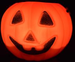Macro Mondays Halloween (Harry McGregor) Tags: macromondays halloween nikon d3300 macro pumpkin plastictoy harrymcgregor 29 october 2017 tealight orangeandblack