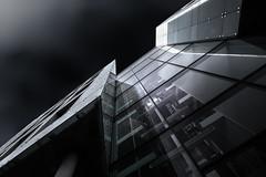 Sector II (Robert_Franz) Tags: munich münchen modern exterior architecture architectural urban city blackwhite building blacksky reflection longexposure wideangle design abstract