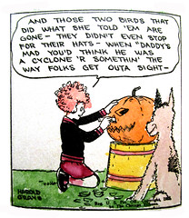 Little Orphan Annie and Sandy 1926 reprint book 3368 (Brechtbug) Tags: little orphan annie sandy vintage reprint book 1925 newspaper comic strips news paper sunday funnies daily comics funny humor satire harold gray character syndicate published 1926 cover art antique old color tinted cupples leon company new york publishers halloween pumpkin jack o lantern spooky trick or treat
