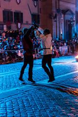 DSC_4031 (Riccardoangla) Tags: nikon d7200 nikkor 35mm lightroom photo foto soriano cimino tuscia lazio viterbo folk folklore medioevo middleage castagne sagra night dark castle knights young amateur sword
