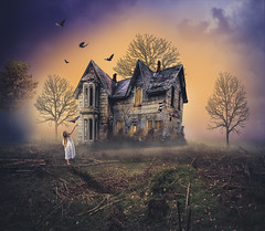 Lovely haunted house (RoCafe Off for a while) Tags: halloween haunted house fantasy photoshop photomanipulation
