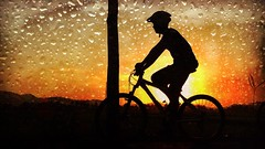 Double exposure with my bike (r_fathur@ymail.com) Tags: photography siluet bike xc sport mtb