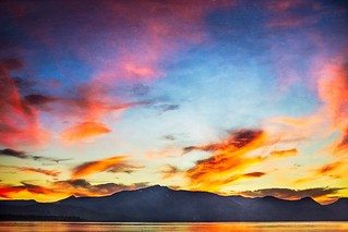 Mt. Tallac Reigns Over Tahoe Sunset.
