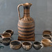 Geometric trefoil oinochoe and cups from Mantineia