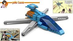 One-seater Vinean flyer : Yoko Tsuno (Horlack) Tags: lego moc ldd yoko tsuno roger leloup vinean flyer comic scifi sf comics