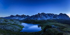 [Explore 02/10/2017] Lac Long de nuit - Hautes Alpes - France (chassamax) Tags: 1x2 alpes bleu blue boyer calm calme canon6d color couleur europe formatpaysage france hautesalpes lac laclong lake landscape maxence maxenceboyer maxenceboyerphoto monochrome montagne mountain night nightscape nuit panorama paysage paysagenocturne star summer valléedelaclarée wwwmaxenceboyerphotocom été