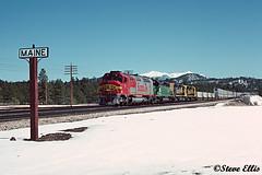 SF 97 7124 Maine, AZ 3-1991 (steveellis12) Tags: atsf santafe fp45 atsf97 sf97
