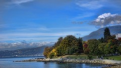 English Bay October 2017 (Valerie Sauve-Vancouver) Tags: englishbay vancouverbc scenery beach views water fall nikon