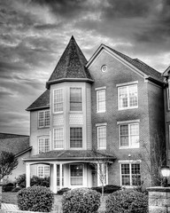 Birchaven [40/52] [B&W Infrared Buildings] (trustypics) Tags: bw birchhaven findlay infrared ohio blackandwhite buildings turret