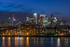 CW Cluster (JH Images.co.uk) Tags: london canarywharf cw canary whatf hdr dri night bluehour onecanadasquare skyscrapers skyline cityscape architecture riverthames