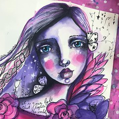 """""""It is your light, that lights the worlds."""" #sheblooms #flowergirls #willowingarts #willowing #artjournal"""