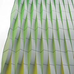 - vertical aluminium (3) - (Jacqueline ter Haar) Tags: umcg unstudio benvanberkel facade flat vertical aluminum slats laboratory research citrus colours twists