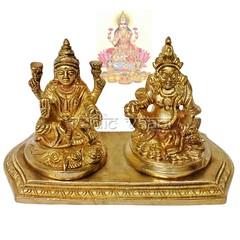 Lakshmi Kubera Idol in Brass   VedicVaani.com (vedicvaani.com) Tags: idol lakshmi kubera statue online brass goddess laxmi god kuber sculpture diwali handcrafted murti deity