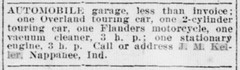 1914 - J M Keller sells garage - South Bend News-Times - 21 Feb 1914