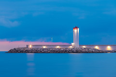 LE PHARE (Dominique Richeux Photography) Tags: sunset sunrise antibes waterscape water seascape sea light phare