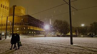 Snowy evening in Oslo, Norway, December 2014
