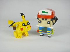 Ash (BrickHeadz)2.0 & Pikachu 1.0 (YOS Bricks) Tags: ash satoshi pikachu brickheadz