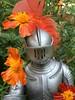 Sir Stuart visits Marigold Madness (atjoe1972) Tags: marx knights noble toys johnnywest vikings sirstuart vintage retro 1960s 1970s seventies sixties memories actionfigure armor sword shield castle marigold madness patch flower atjoe1972 silver