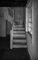 Brian_Ghostly Girl 1 LG BW_082517_2D (starg82343) Tags: 2d brianwallace steps ghost female railing banister haunted entity paranormal weird strange transparent ghostly apparition stairs stairsteps fortmchenry window grayscale blackandwhite monotone monchrome girl earthbound halloween