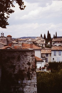 'Red roofs & cypress trees' : Nimes, S.France (1996).
