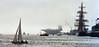 Boston2K005A (Grudnick) Tags: tallships sails sailing boston bostonharbor nautical windpower international event fog have aircraftcarrier ussjohnfkennedy cv67