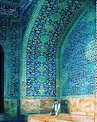 A man #praying in an alcove of Shah mosque,  Location: #Isfahan #Iran . . . . . . . Www.invitationtoiran.com #travel #trip #traveller #hotel #hostel #guesthouse #persia #invitationIran #hoteliran #iranhotel #Iranhostels (invitationtoiran1) Tags: instagramapp square squareformat iphoneography uploaded:by=instagram clarendon