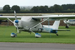 G-HART (IndiaEcho) Tags: ghart cessna 152 tailwheel egbw wellesbourne mountford airport airfield civil aircraft aviation aeroplane light general warwickshire england canon eos 1000d