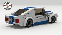 1965 Shelby GT350R (rear view) (Tom.Netherton1) Tags: 1960s ford mustang muscle pony car cars auto classic vintage 1965 american america lego ldd legos digital designer city povray pov v8 motor engine white background vehicle speed speedster power download dropbox lxf sky road 2018 2000s 2010s 2door fast sport sports coupe shelby gt350