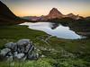 Lac Gentau (Hervé D.) Tags: ayous gabas pyrénées pirineos gentau lac lake sunset coucherdesoleil ossau picdossau