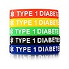 Vnox 5 Pcs Silicone Rubber TYPE 1 DIABETES Medical Alert ID Wristband Emergency Bracelet,5 Colors (trolleytrends) Tags: alert bracelet5 colors diabetes emergency medical rubber silicone type vnox wristband