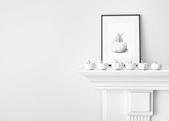 "white pumpkins (donna leitch) Tags: fall autumn ""whitepumpkin"" pumpkin ""blackandwhite"" noiretblanc ""stilllife"" still mantel sketch art"