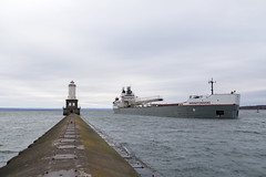 Manitowoc at the Lower Entrance Light, October 2017-18 (Invinci_bull) Tags: freighter lakesuperior lake keweenaw keweenawpeninsula keweenawbay keweenawwaterway keweenawwaterwaylowerentrancelight jacobsville houghtoncounty houghton lighthouse light lowerentrancelight michigan michigansupperpeninsula michiganskeweenawpeninsula mi manitowoc fall