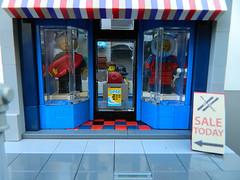 Lego Surf & Ski Shop/Travel Agency Storefront (elizabeth nevermind) Tags: lego modular store shop travel creator town city surf ski victorian gothic building