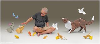 Ronnie in Origami Wonderland ... :-)