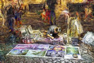 Artistas callejeros - street performers