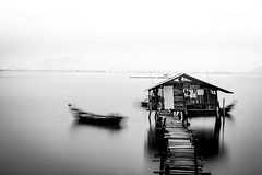 .[quiet the chaos]. (Shirren Lim Photography) Tags: longexposure blackandwhite fineart minimalistic penang nikon minimal serenity jetty timelapse