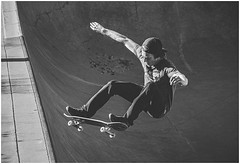 "All that is needed is one leap of faith (Richard Cawood) Tags: ""flickrtravelaward"" atlanta skateboarding skatepark historicoldfourthward oldfourthward old4thwardskatepark oldfourthwardskatepark atl grain blackandwhite bw flat"