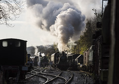 'Bellerophon' Pulls Away (powern56) Tags: avr avonvalleyrailway bitton southgloucestershire bristol railway heritagerailway railwaystation steamlocomotive bellerophon willythewelltank 060wt 040wt steamtrain