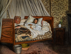 Frederic Bazille - The Improvised Field Hospital, 1865 (Musee d'Orsay Paris France) at Frederic Bazille and the Birth of Impressionism exhibit at National Gallery of Art Washington DC (mbell1975) Tags: washington districtofcolumbia unitedstates us frederic bazille the improvised field hospital 1865 musee dorsay paris france birth impressionism exhibit national gallery art dc museum museo musée muzeum museu musum müze museet finearts fine arts gallerie beauxarts beaux galleria french painting impression impressionist