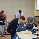 George Barr signing books for students, faculty, and community members