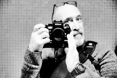 selfie on film (Mister.Marken) Tags: nikonf4 nikonafnikkor50mm114d ilfordfilm ilfordfp4125 madeinsweden monochrome blackandwhite adonal150 filmdevelopment