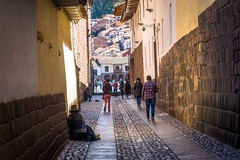 The streets of Cusco.