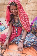Rajasthan - Jaisalmer - Jewellry seller-6