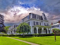 Canandaigua  New York  ~ Inn of the Main  ~ Queen Anne Architecture (Onasill ~ Bill Badzo - 44 Million views- Thank You) Tags: nrhp onasill visit district mansion house gifford morris alfred region lake finger upstate accommodation breakfast bed innonthemain sky clouds window white vacation tourist attractionsite street 222 bb historic main inn 1840 york new canandaigua building architecture high empire victorian mansard roof travel