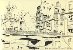 Quai Saint-Étienne - Strasbourg (lolo wagner) Tags: urbansketchers usk croquis sketch strasbourg pont