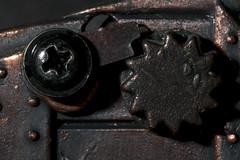 Catapult Ratchet - Souvenir (Ghazghul) Tags: nikon d300s sb800 catapult souvenir macromondays sigma 105mmf28exdg sigma105mmf28exdg model pencilsharpener texture winchester uk cathedral gift giftshop